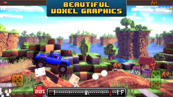 Blocky Roads - 3d racing game - screenshot thumbnail