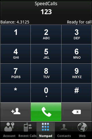 Speedcalls - screenshot