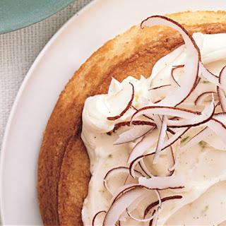 Coconut Cake with Mascarpone Frosting.