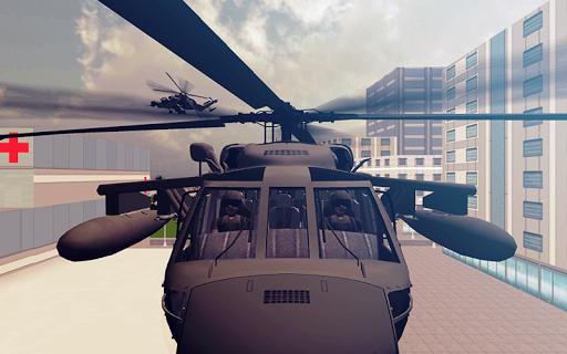 城市武裝直升機飛行