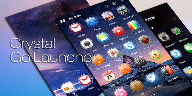 Crystal GO Launcher Theme