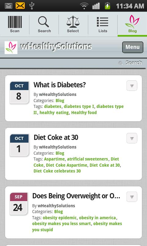 FoodSmart Healthy Grocery List - screenshot
