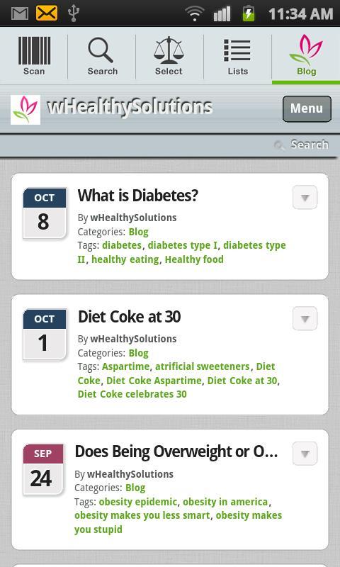 FoodSmart Healthy Grocery List - screenshot