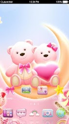 Cute Bear love  honey with Pink hearts DIY Theme APK screenshot thumbnail 4