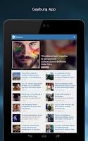 Screenshot of Gayburg: notizie dal mondo gay