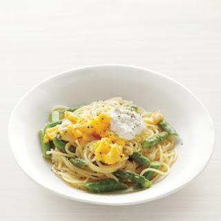 Pasta with Asparagus and Scrambled Eggs.