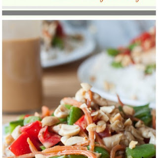 Coconut Peanut Chicken Satay Stir-Fry
