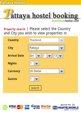 Pattaya Hostel Booking