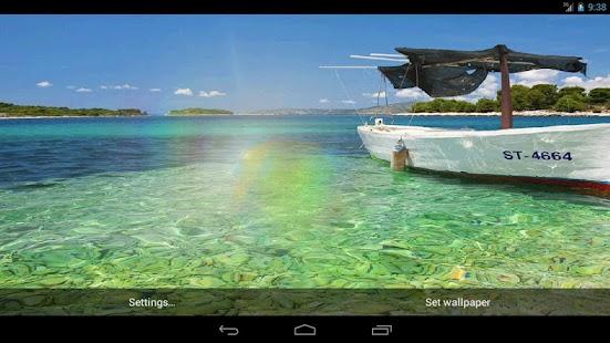 船和大海的動態壁紙