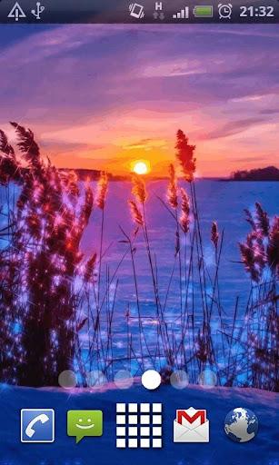 Last Winter Sunset Live Wallpa