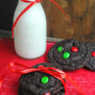 Chocolate Christmas Cake Mix Cookies