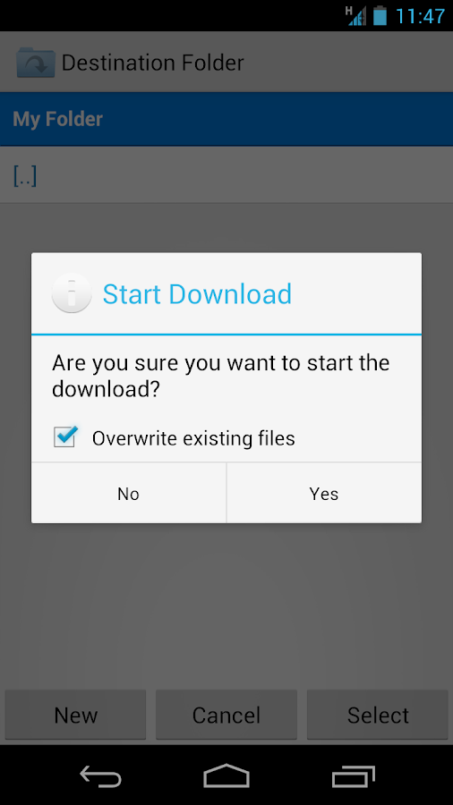 Folder Downloader for Dropbox - screenshot