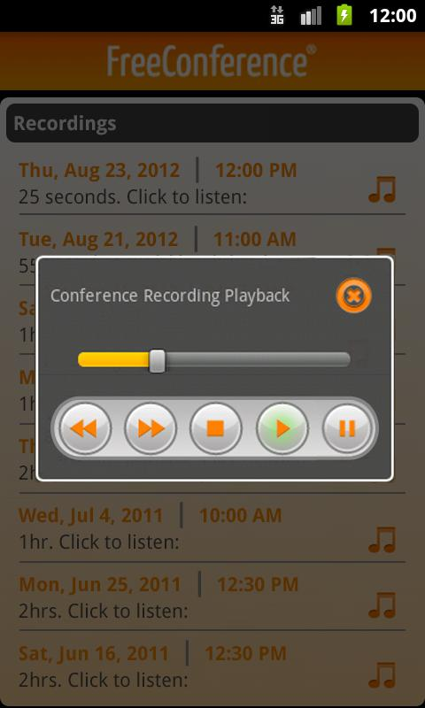 FreeConference Mobile- screenshot