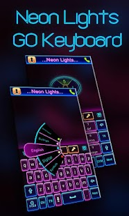Neon Lights GO Keyboard Theme- screenshot thumbnail