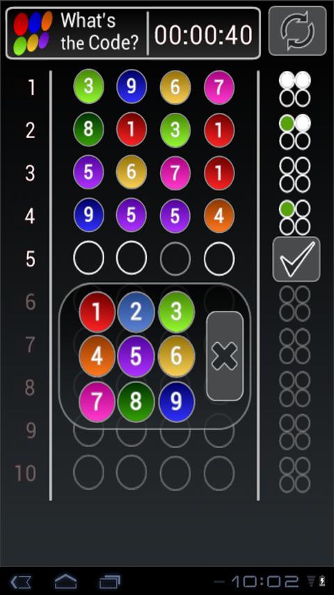 Whats the Code 👍🏻 Mastermind Game- screenshot