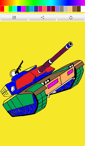 Coloring Book Tank