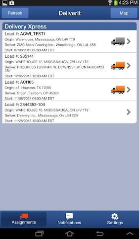 Screenshots for DeliverIt
