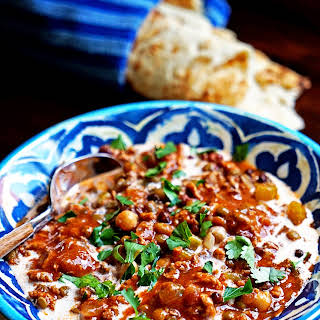 Harira - Lentil, Tomato and Turkey Soup.