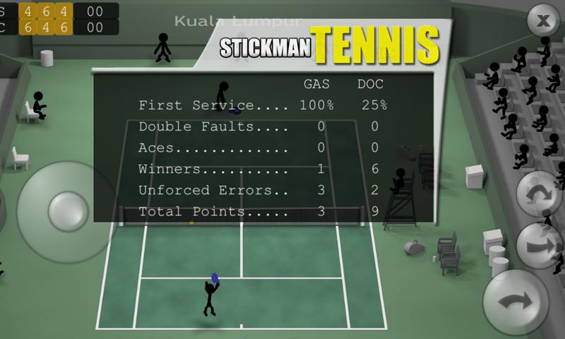 Stickman Tennis screenshot #5