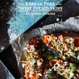 Korean Pork Sweet Potato Skins