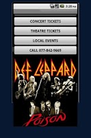 Screenshot of Def Leppard Tour Tickets