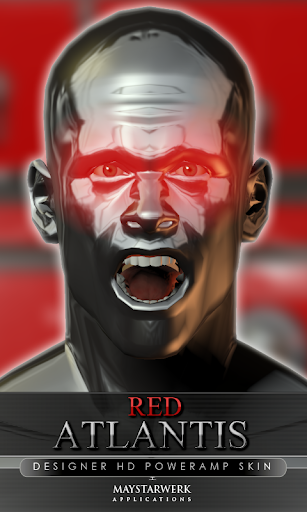 poweramp 皮膚の赤いアトランティス