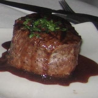 Cabernet Filet Mignon Steak.