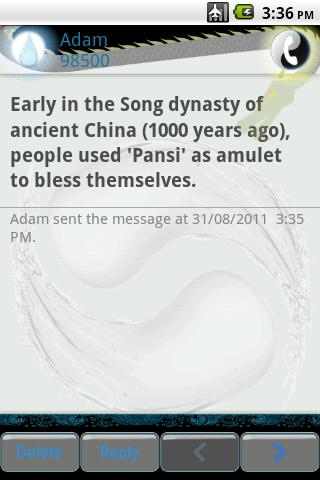 Easy SMS Taichi theme- screenshot