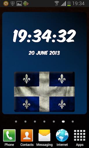Quebec Digital Clock