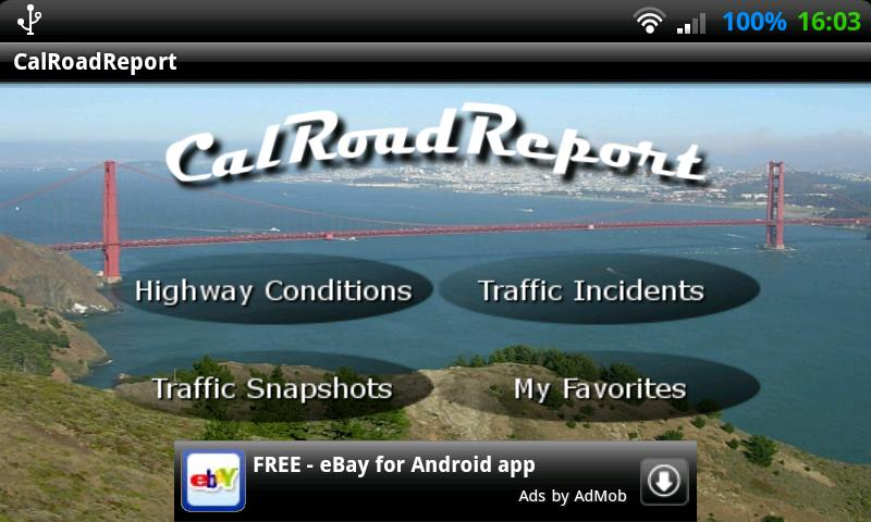 CalRoadReport - screenshot