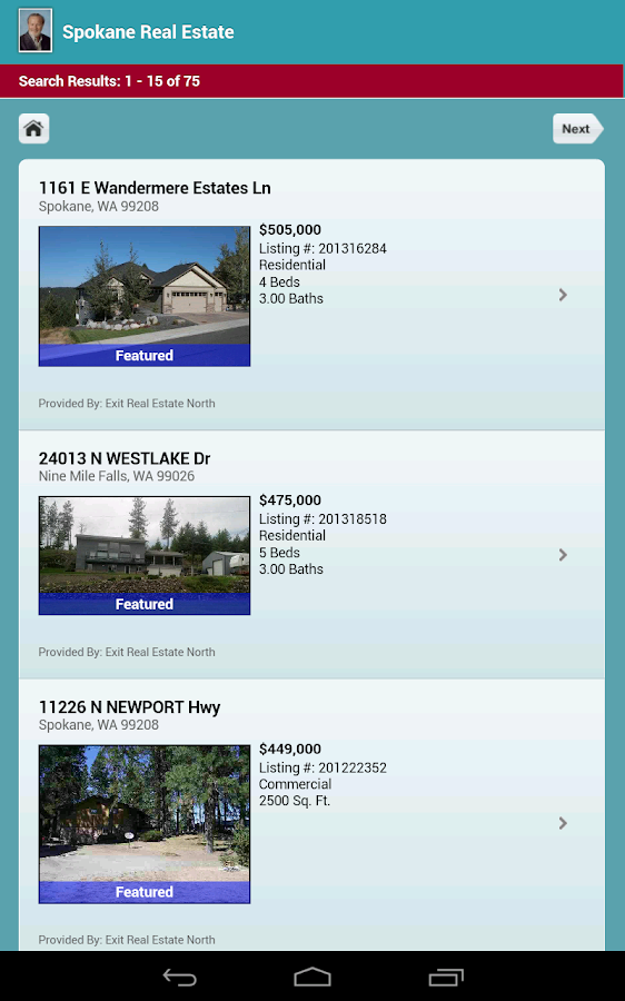 Spokane Real Estate- screenshot