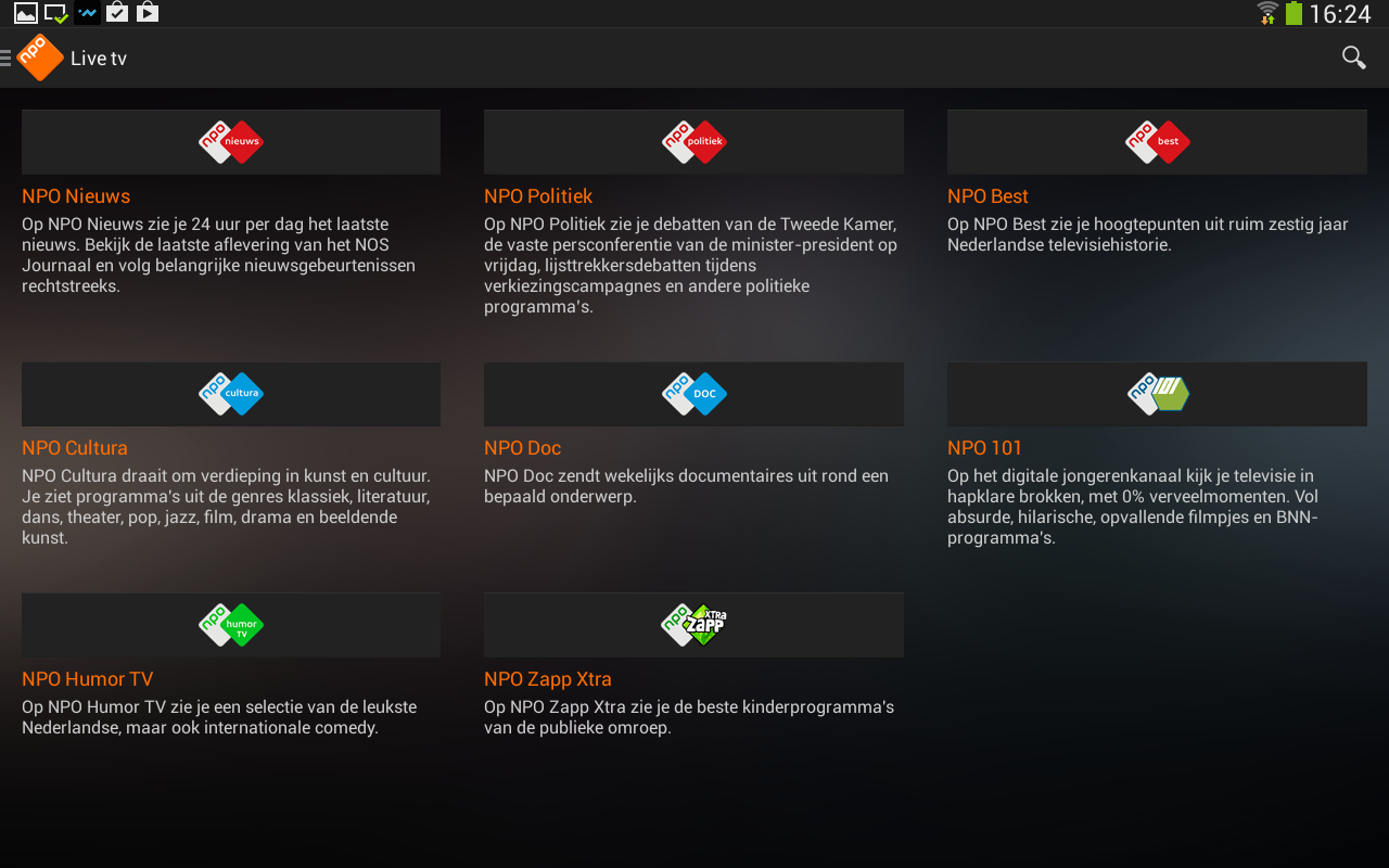 NPO - screenshot