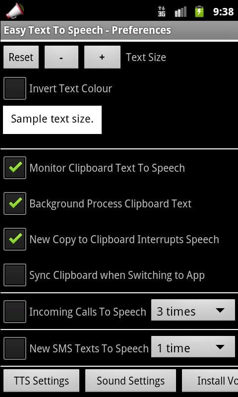Easy Text To Speech Pro - screenshot