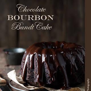 Chocolate Bourbon Bundt Cake.