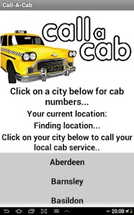 Call a Cab - UK (FREE) - screenshot thumbnail