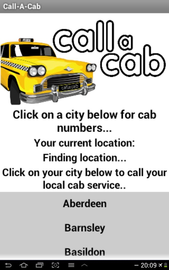 Call a Cab - UK (FREE) - screenshot