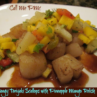 Tangy Teriyaki Scallops with Pineapple Mango Relish