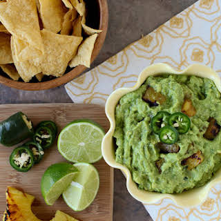 Grilled PIneapple Guacamole.