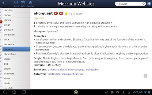 Dictionary - M-W Premium - screenshot thumbnail