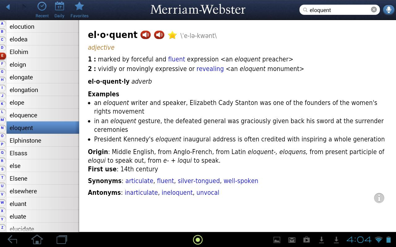 Dictionary - M-W Premium - screenshot