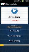 Screenshot of Learn Italian - Molto Bene