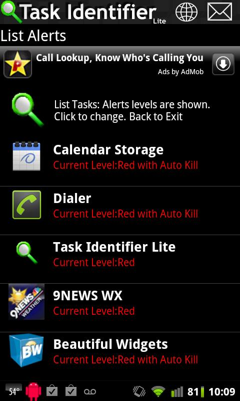 Task Identifier Lite - screenshot