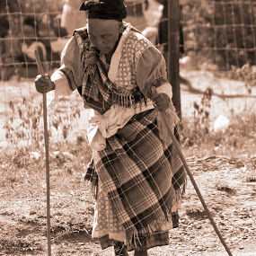 The walk  by Hush Naidoo - People Portraits of Women ( old, life, timeless, elderly, women, rural,  )