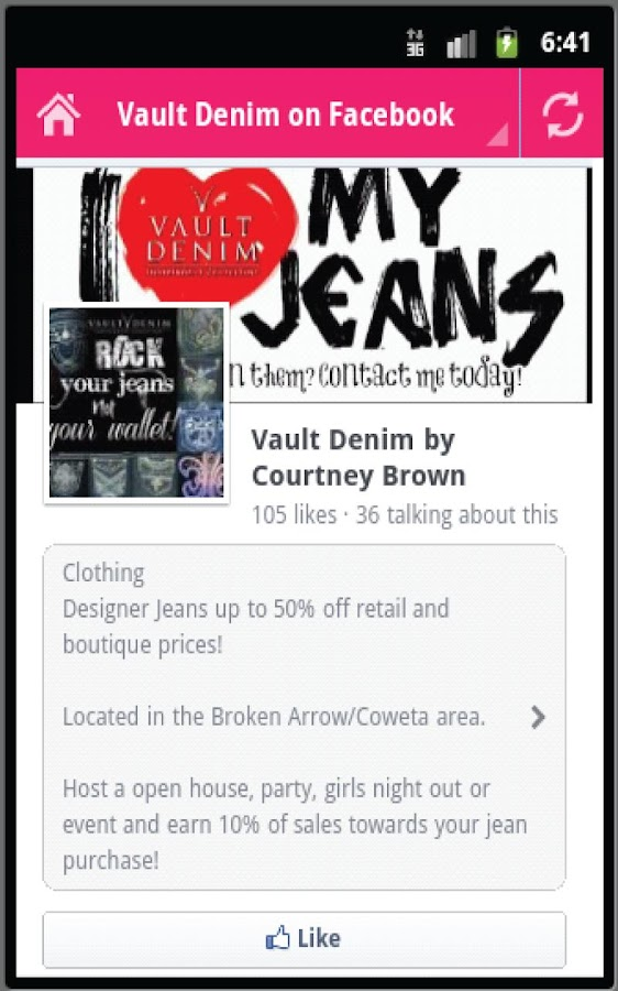Vault Denim by Courtney Brown- screenshot