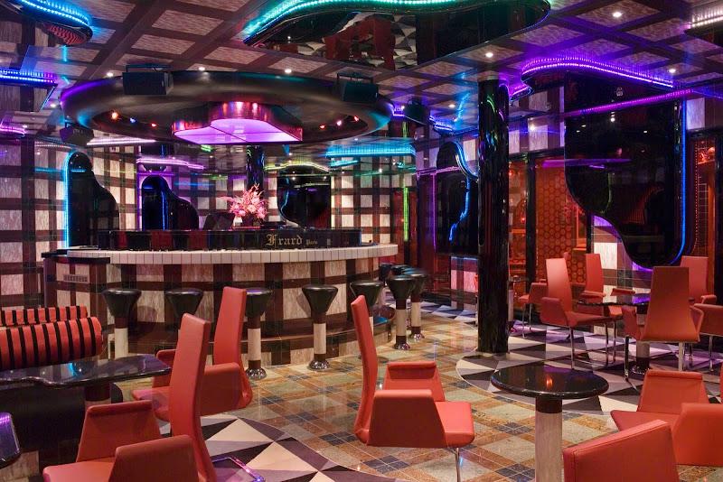 The Grand Piano Bar aboard Carnival Splendor.