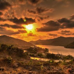 sunset  by Amol Patil - Landscapes Sunsets & Sunrises ( mumbai, hdr, sunset, india )