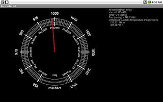 Screenshot of Barometer HD