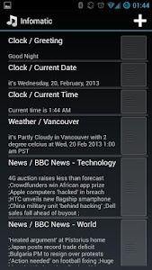 InfoMatic (talking alarm) screenshot 1