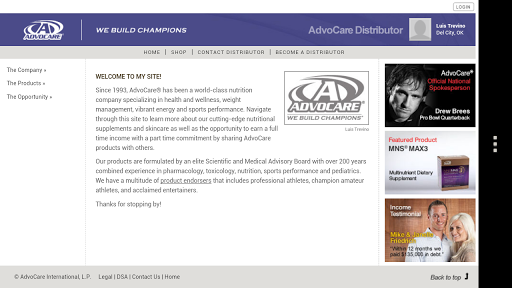 AdvoCare Product Purchasing