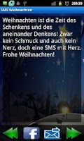 Screenshot of SMS Weihnachten